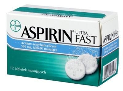 Tabletki musujące na ból kości Aspirin Ultra Fast - opinie o ultra wpadce