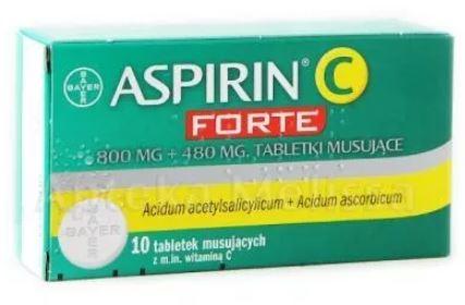 Tabletki na ból kości Aspirin C Forte - opinie i przestroga